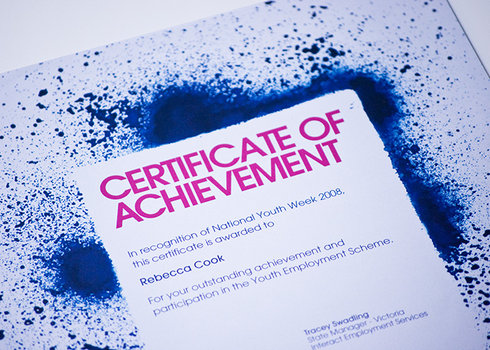Interact Certificate 1