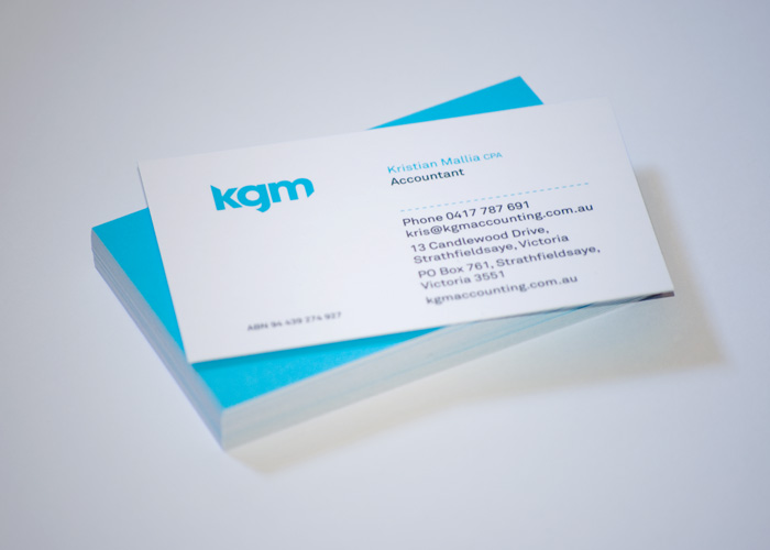 kgm accounting business card